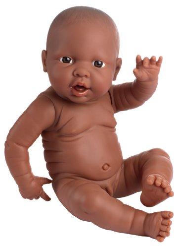 Bayer Design 94200AB Neugeborenen Babypuppe, Junge, lebensecht, 42 cm, dunkelhäutig