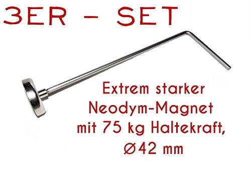 75 kg Magnet - Ablänghilfe Set 25cm + 33cm + 50cm