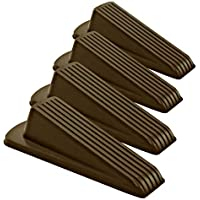 4-Pack Home Premium 1.2 Inches Classic Rubber Door Stopper Wedge