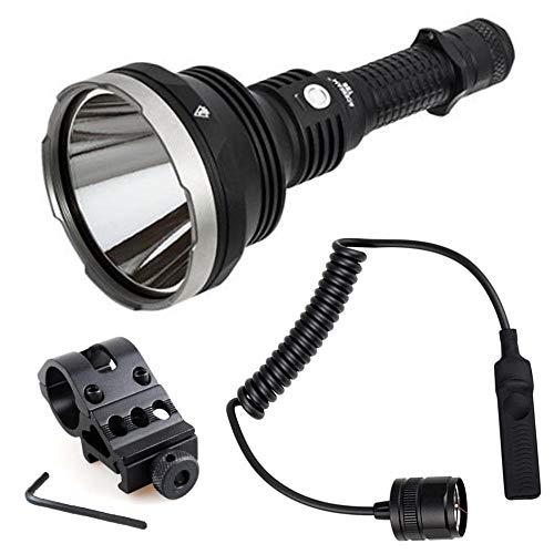 ACEBEAM Combo T28 Ultra Long Range LED Flashlight-2500 lumens-1300 Meters w/Offset Weapon Mount & Pressure Switch