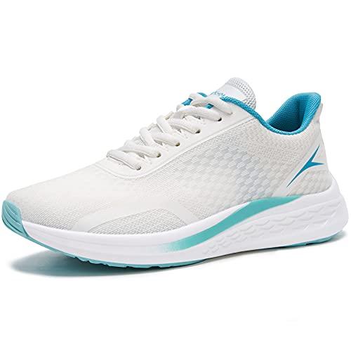 URDAR Zapatillas Deportivas Mujer Ligeras Zapatillas De Deporte Running Fitness Sneakers Transpirables Zapatos para Correr(Azul,37.5 EU)