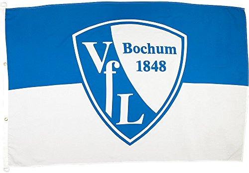 Flaggenfritze Hissflagge VFL Bochum Logo - 100 x 150 cm + gratis Aufkleber