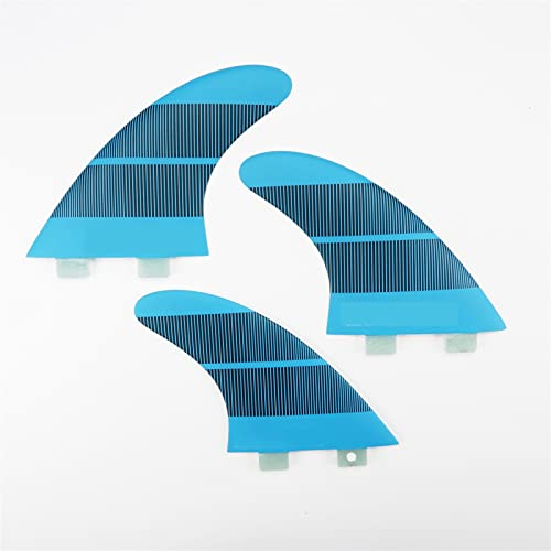 xldiannaojyb 3pcs Paddle Board Fin Surfing Thruster Fiberglass Surfboard Fends Tail Fins for Surfing (Color : Blue)