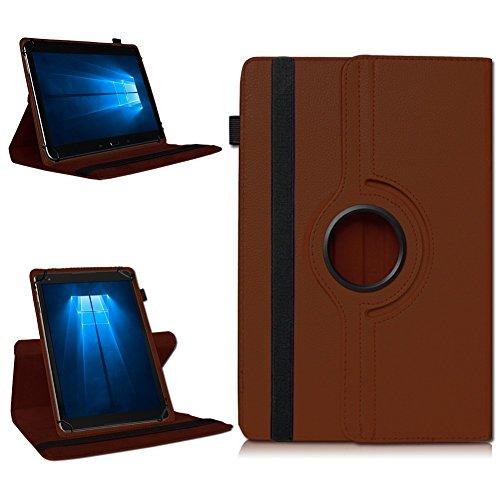 NAmobile Tablet 360° Drehbar Hülle für Odys Wintab Ares 9 Tasche Schutzhülle Hülle Cover, Farben:Braun