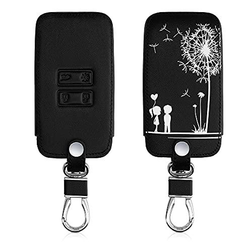 kwmobile Funda Compatible con Renault Llave de Coche Smart Key de 4 Botones (Solo Keyless Go) - Cubierta de Cuero sintético - Case...
