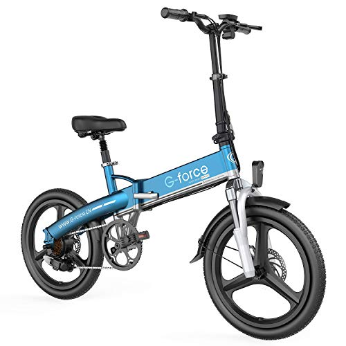 G-Force Electric Bike T11, 20'' Folding Ebike. 48V 10.4A Removable Battery, Maximum Speed 20MPH, Maximum Battery Life 40 Miles Electric Bikes for Adults.