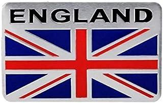 SkinoEu/® 2 x Adesivi Vinile per Targa Stickers United Kingdom Flag Great Britain Bandiera Nazionale Gran Bretagna Regno Unito Union Jack UK Europa Identificazione Europeo GB Auto Moto Tuning QV 1