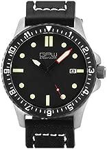 German Military Titanium Automatic Watch. GPW Date. 200M W/R. Sapphire Crystal. Black Leatherstrap