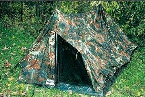 Army Armee 2 Mann Zelt 'Ranger' mit Boden und Moskitoschutz Flecktarn oder Oliv Flecktarn