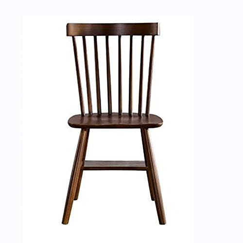 LRXGOODLUKE Massivholzstuhl, European Art einfach und einfache Nordic Windsor Chair White Oak Dining Chair Modern Dining Chair,Walnutcolor