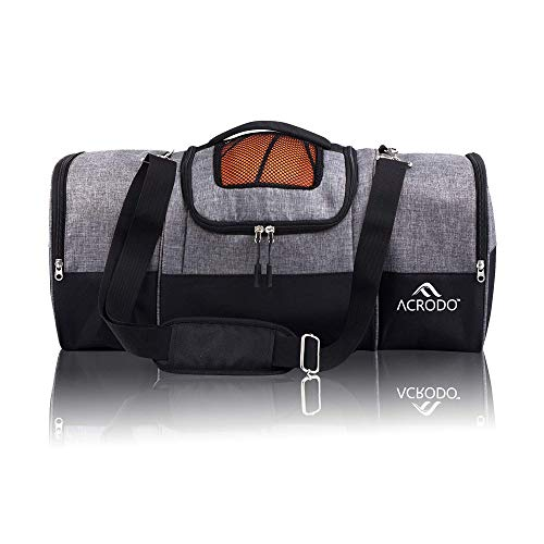 Basketball Backpack with Ball Holder, Shoe Compartment, Lunch Cooler - Sports Duffel Bag Gym Tote...