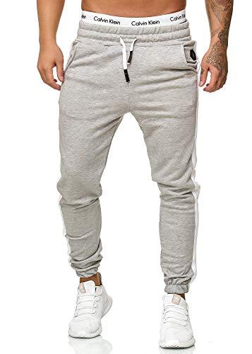 OneRedox Herren Jogging Hose Jogger Streetwear Sporthose Modell 1211 Grau XXXXXL