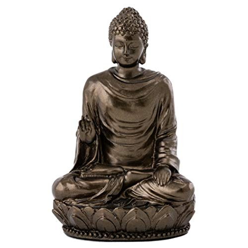 Top Collection Mini Shakyamuni Buddha Decorative Statue - Hand Painted Enlightened One Sculpture with Bronze Finish Look- 3-Inch Supreme Buddha Collectible Figurine