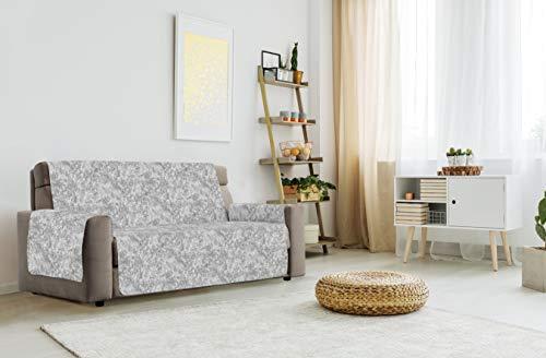"Italian Bed Linen ""Glamour"" Anti-Deslizamiento Funda para sofà, GIRS, 3 plazas, Gris Oscuro"