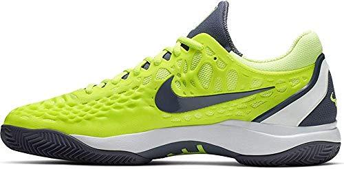 Nike Herren Air Zoom Cage 3 Cly Tennisschuhe, Mehrfarbig (Volt Glow/Light Carbon/White 701), 44.5 EU