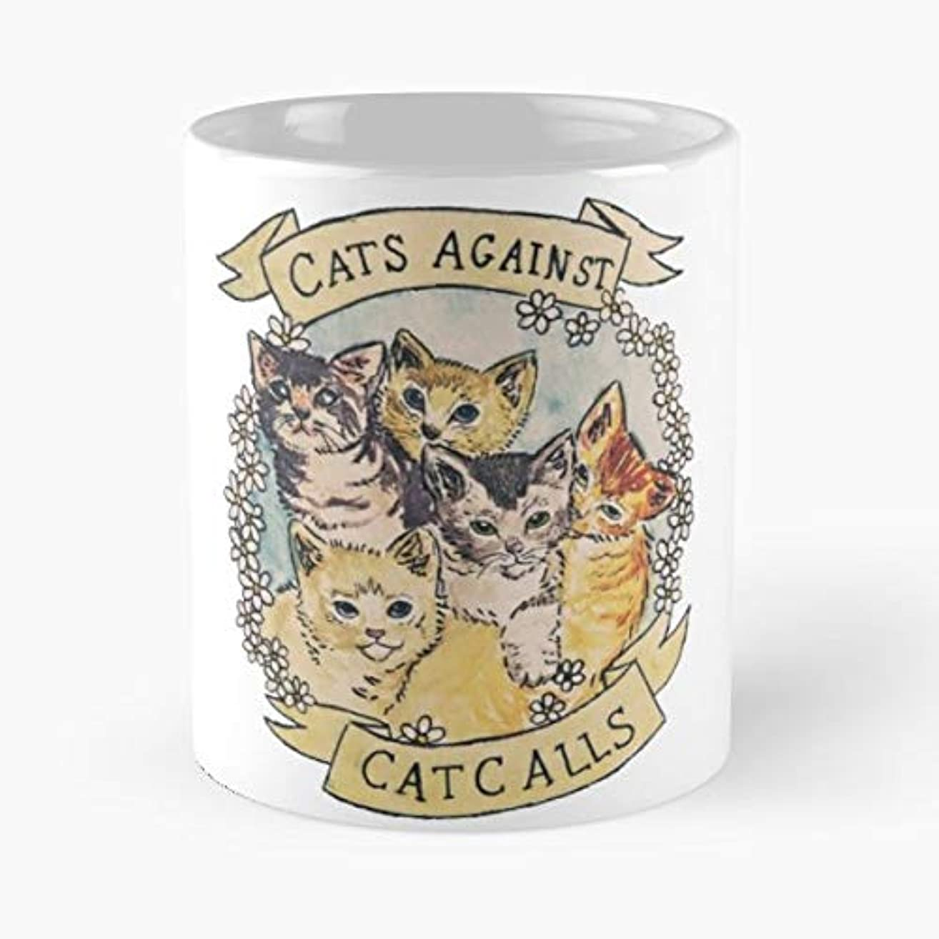 Cats Cat Kittens Feminism Coffee Mugs Unique Ceramic Novelty Cup