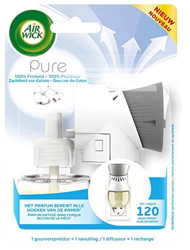 Air Wick Elektrische Geurverspreider - Pure Starterkit - Zachtheid van Katoen