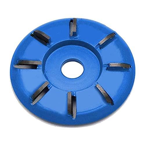 SSXPNJALQ Holz Turbo Carving Disc (Kurve, Blau) in 8 Zähne Winkelschleifscheibe Frässchneiderwerkzeug FIT Für Winkelschleifer Anhang (Color : Blue)