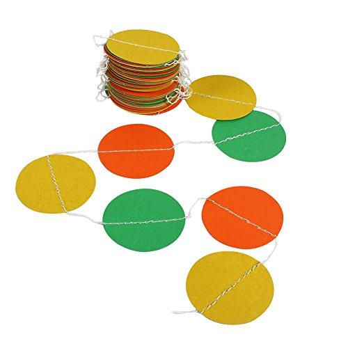 Ronde papieren slinger kleurrijke cirkel punten opknoping decoratieve papieren string banner voor verjaardagsfeestje bruiloft (#1)