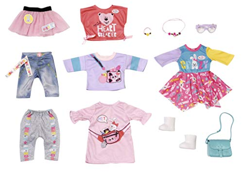 Zapf Creation 828809 BABY born City Fashion Set Puppenkleidung 43 cm, 12-teiliges Set
