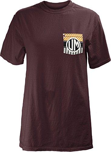 Three Square by Royce Apparel NCAA Junior 's Lollipop Komfort Farben Short Sleeve T-Shirt, Damen, 61TC00LOL, kastanienbraun, XL
