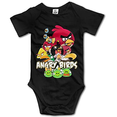 Angry Birds Pig Logo Baby Girls/Boys Short Sleeve Bodysuit 12M