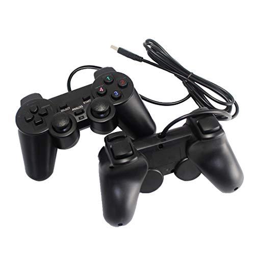 sqdeal 2Pack USB Gamepad Joypad doppelt Dual Shock Gaming Controller Joystick für PC Computer Laptop Windows [Video Game]
