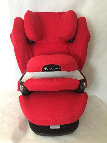 Sommerbezug Schonbezug für Cybex Pallas M und S + M- und S-Fix Frottee 100% Baumwolle rot