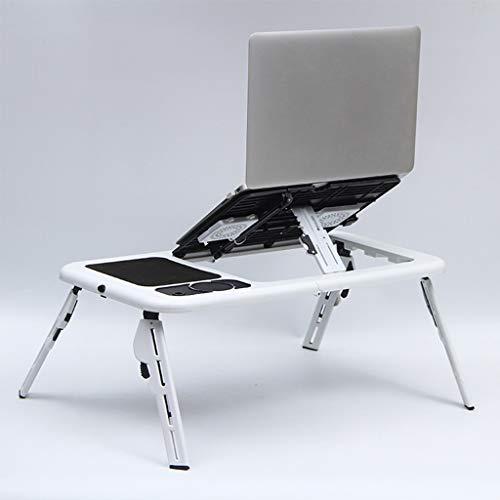 N  A Laptop Schreibtisch für Bett, Laptop Tischständer Verstellbarer Riser, Verstellbarer Laptop Betttisch mit Ventilator, Faltbarer Betttablett Frühstückstisch