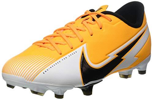 Nike Jr. Vapor 13 Academy FG/MG, Football Shoe, Laser Orange/Black-White-Laser Orange, 35 EU