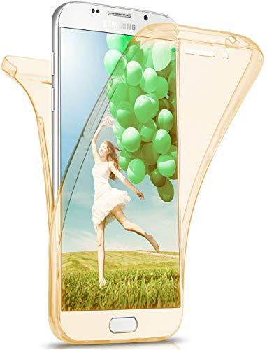 MoEx Funda Protectora 360º de Silicona Compatible con Samsung Galaxy A5 (2016)   Transparente, doré