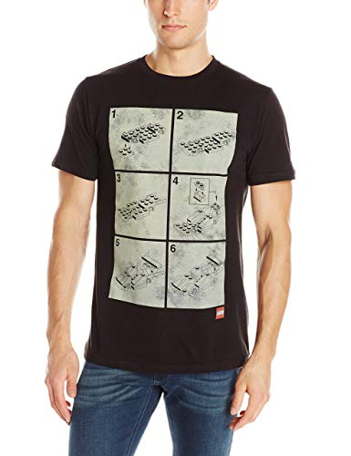 Lego Men's Instructions T Shirt,Camisetas y Tops(Small)