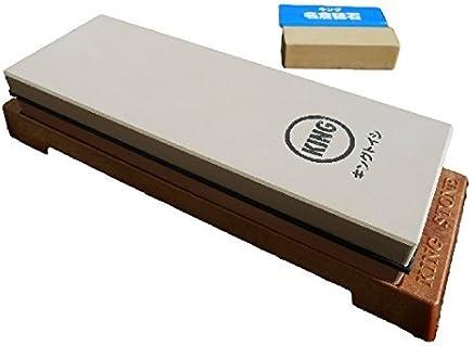 King Japanese Grit 1000/6000 Combination Sharpening Stone KW-65 and King 8000 Nagura Stone : Bundle - 2 Items
