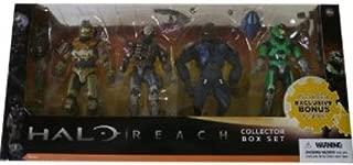Halo Reach McFarlane Toys Series 1 Exclusive Action Figure 4Pack Collector Box Set Jorge, Emile, Elite Minor GREEN Spartan Mark V