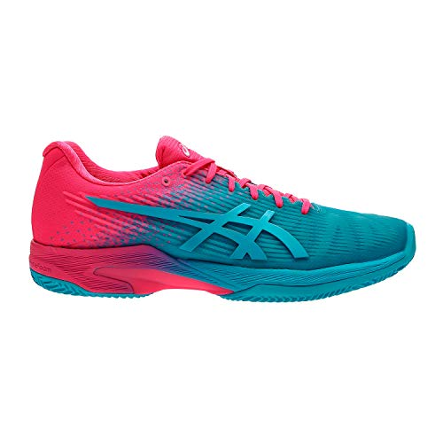 ASICS Scarpa Tennis Donna - Solution Speed FF L.E. Clay - Aquarium/Hot Pink 1042A025-40 (EU 38 - UK 5)