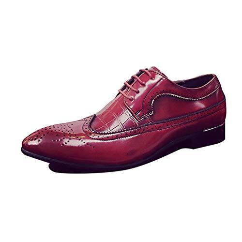 Qianliuk Oxfords Spitze Zehen Männer Kleider Schuhe PU Leder Formale Schuhe für Business-Hochzeitsschuhe