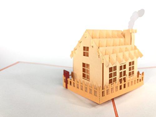 Kerstkaart: Huisje dorp