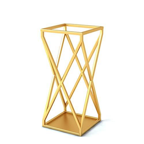 Home/Hotel Lobby/Schule Schmiedeeisen Schirmständer. Goldener Schirmständer, kommerzieller Schirmständer (Gold)