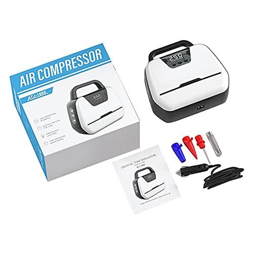 XISESAN Compresor de Aire portátil para Coche DC12V para automóvil, Motocicleta, Bicicleta, Bomba de neumático eléctrica, inflador de neumáticos para Coches