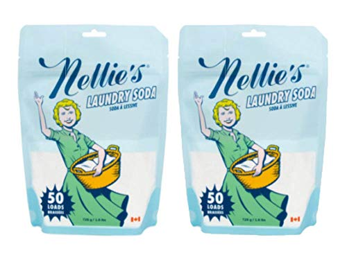 Nellie's Laundry Detergent Soda, 50 Load Bag (Pack of 2)