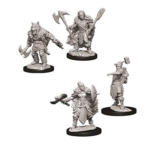 Dungeons & Dragons Nolzur's Marvelous Unpainted Miniatures Bundle: Female Half Orc Barbarian W9 + Male Half Orc Barbarian W9