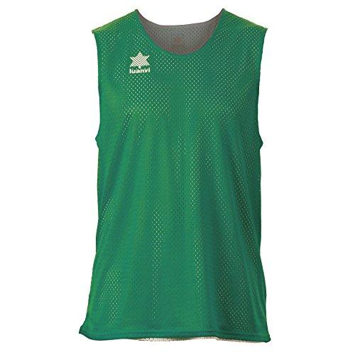 Luanvi Triple Camiseta Reversible Deportiva, Hombre, Verde/Blanco, L
