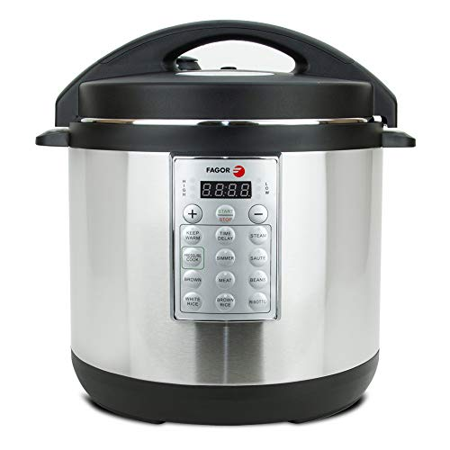 Fagor Select 8-Quart 8-in-1 Electric Pressure Cooker Rice Cooker Multi-Cooker