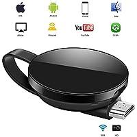 WiFi Aparato para la conexión de WiFi, ATETION WiFi inalámbrico 1080 P Mini Aparato Receptor HDMI TV Miracast DLNA Airplay para iOS/Android/Mac