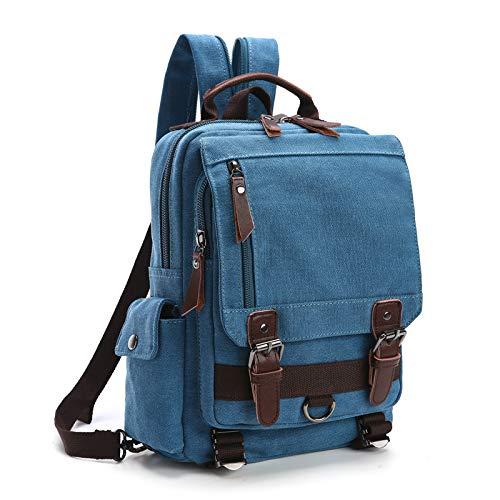 Borsa a tracolla da uomo in tela borsa a tracolla zaino a doppio uso multifunzionale con personalità casual