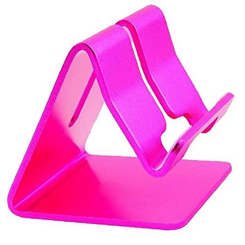 Tenedor De Teléfono Móvil Aleación De Aluminio Tableta Tableta Tableta Smartphone Dock Portátil Escritorio Cuna Holder Pink