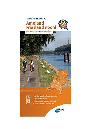 Fietskaart Ameland, Friesland noord 1:66.666: Nes, Dokkum, Leeuwarden