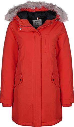 Tommy Jeans Damen TJW Technical DOWN Parka Jacke, Rot (RED XA8), (Herstellergröße:S)