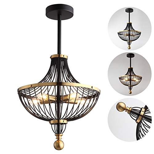 Industrial Metal Chandelier, 5 Lamps, Retro Dining Table Chandelier, European Style Rustic Decoration Light, Ceiling Hanging Lamp E14 Chandelier Ceiling Lamp