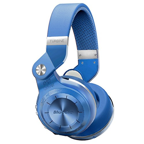 Bluedio T2S (Turbine 2 Shooting Brake) Bluetooth Stereo Headphones Wireless Headphones Bluetooth 4.1 Headset Hurrican Series Over The Ear Headphones (Blue)